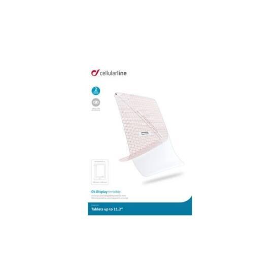 """Cellularline Képernyővédő fólia, univerzális, tabletekhez, 11,2"""" méretig (2 db-os csomag)"""