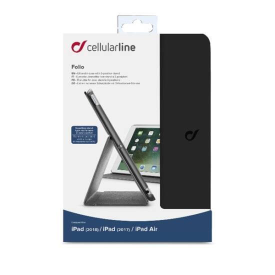 """Cellularline Tok, FOLIO, tablet, kitámasztható, iPad 9,7"""" fekete"""