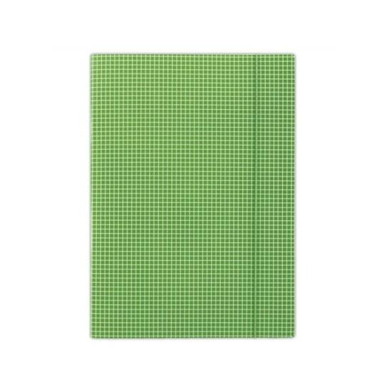 DONAU Gumis mappa, karton, A4, kockás, , zöld