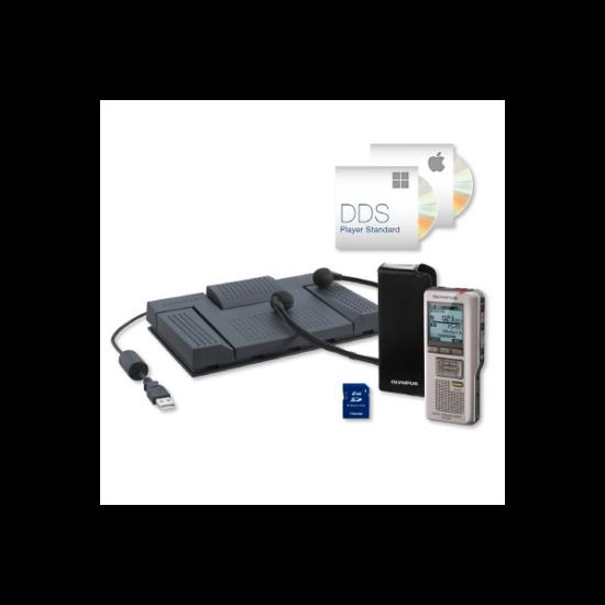OLYMPUS DS-2500 PRO Diktafon + Transcription Kit (DS-2500, RS28H, E102, DSS-Player Standard)