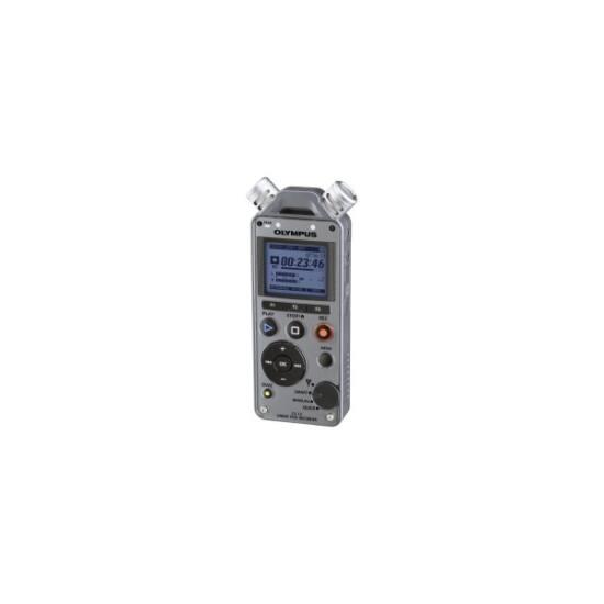 OLYMPUS Diktafon LS-12 2GB, PCM/MP3/WMA, elemek, SD kártyával bővíthető