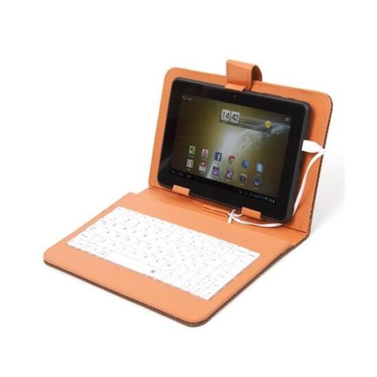 """OMEGA Tablet tok 7"""" + angol Billentyűzet, narancs, feket bill."""