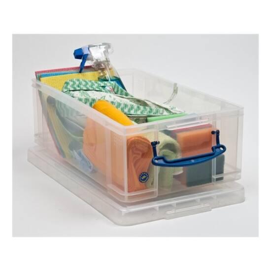 REALLY USEFUL Műanyag tárolódoboz, C4 és DL méretű borítékok tárolására, 12 liter, REALLY USEFUL