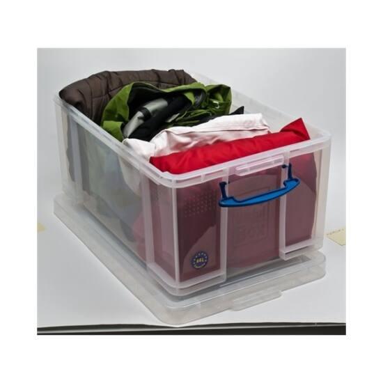 REALLY USEFUL Műanyag tárolódoboz, iratrendezők számára, 64 liter, REALLY USEFUL